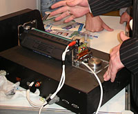 Принцип работы анализатора лазерных картриджей